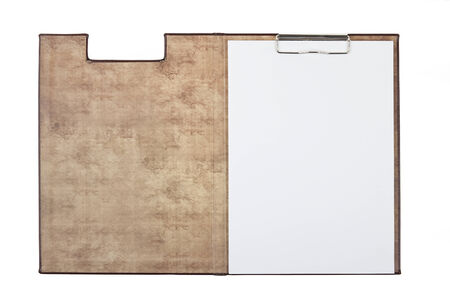 moleskine: open notebook isolated on white