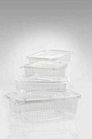 plastic container for food isolated photo