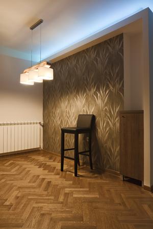 stool: bar stool in empty room
