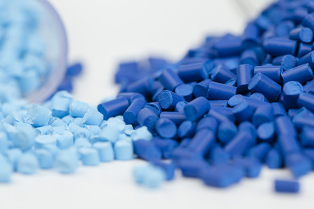 plastic: plastic granules close up for molding