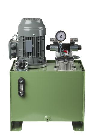 hydraulic: Hydraulic pump engine isolated on white