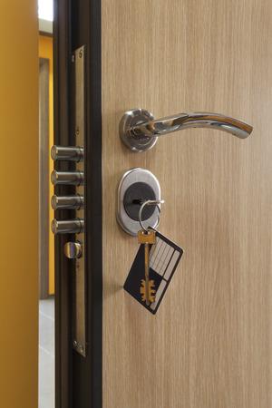 lock on door close up background