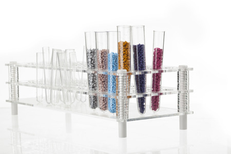 thermoplastic: plastic granules for molding on the podium