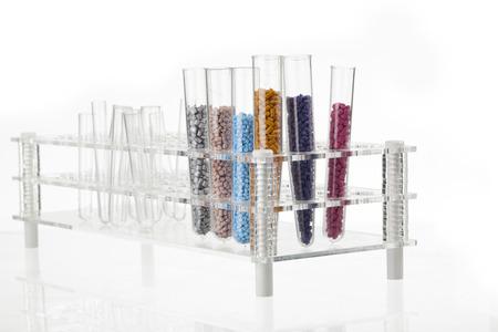 plastic granules for molding on the podium