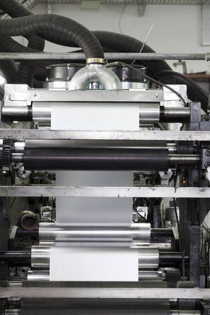 printing machine: detail of roll printing machine