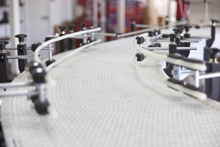 white plastic conveyor in  industry