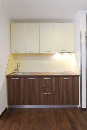 smal: smal white kitchenin in apartment