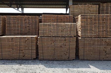 wooden beams: wooden beams at the stack