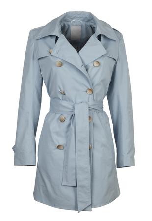 anorak: blue women jacket isolated on white