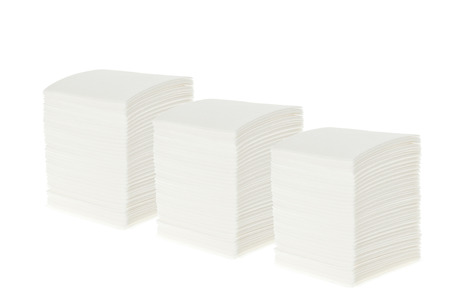 servilletas: bunch of white napkins isolated on white