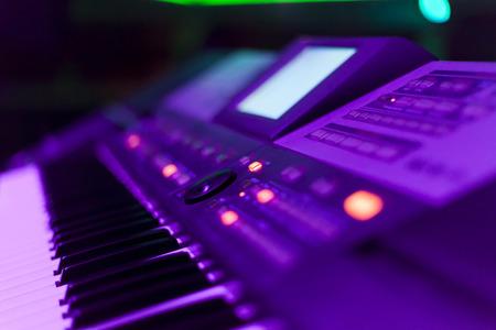 nightclub party: keyboards in a nightclub close up