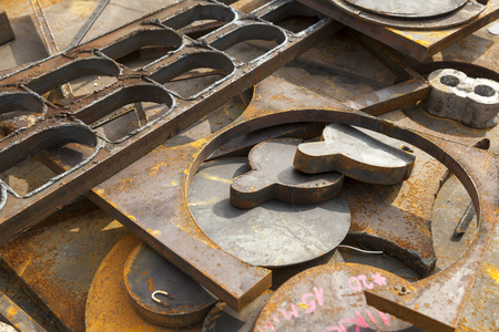 rusted background: rusted scrap metal abstract background Stock Photo
