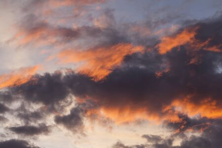 dark red: sunset with red clouds