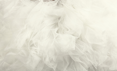 white tulle background close up