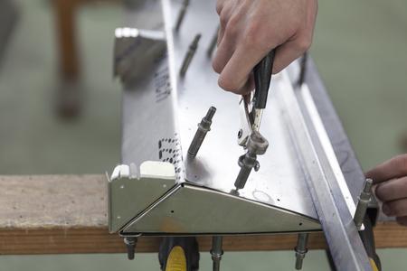 aircraft rivets: tin workshop, making airplane parts