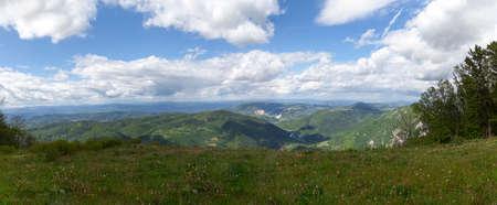 serbia landscape: mountain panorama landscape in western Serbia