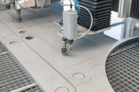 water jet cutter close up