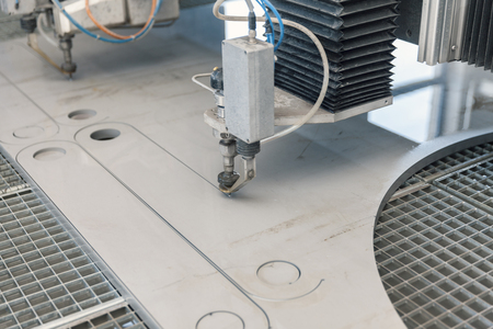 water jet: water jet cutter close up