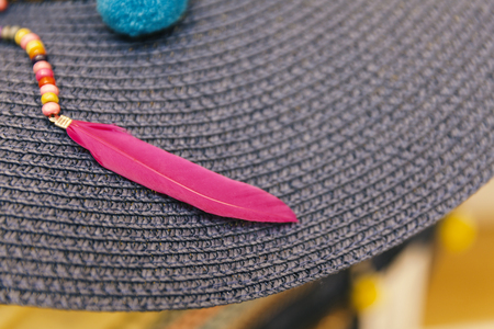 d2e35b979bc Hat With Feather Stock Photos And Images - 123RF
