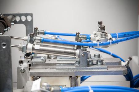 pneumatic machine detail, close up Banco de Imagens