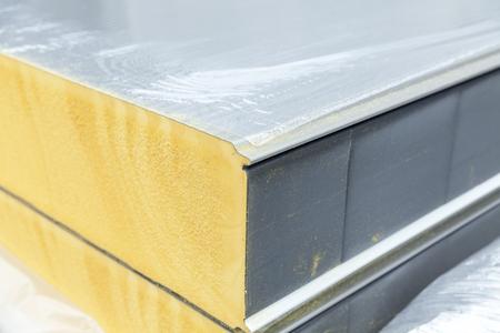 detail van isolatiepaneel, close-up