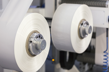 flexo printing press, close up