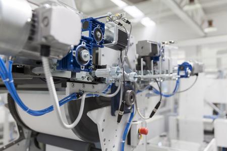 roll printing machine, close up