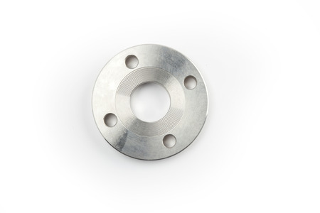 steel material on a white background