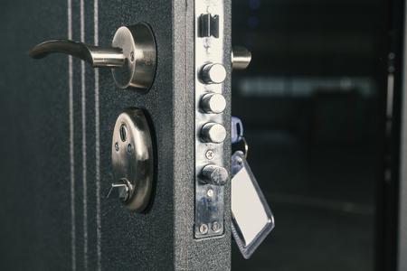 puerta de cerradura de seguridad, de cerca