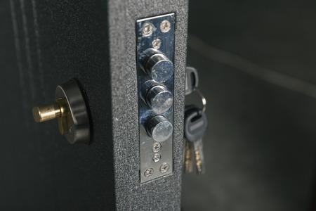 veiligheidsslot deur, close-up Stockfoto