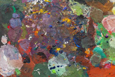 abstract background, oil painting on palets, close up Banco de Imagens