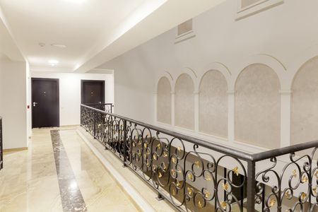 wrought iron in the hallway of the building