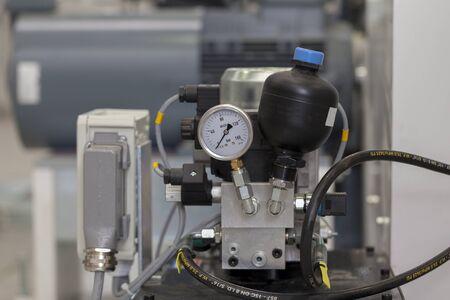 industrial hydraulic pump, close up