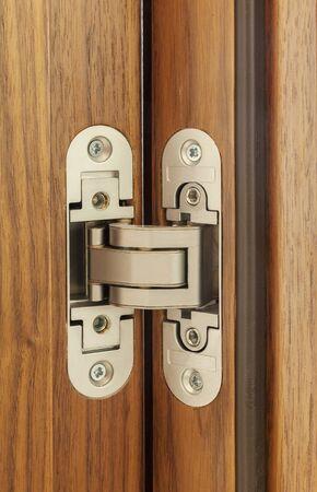 metal hinge for wooden doors, close up Reklamní fotografie