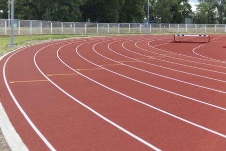 white stripes on running track 版權商用圖片