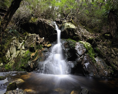tasmania: Crater Falls, Cradle Mountain, Tasmania Stock Photo