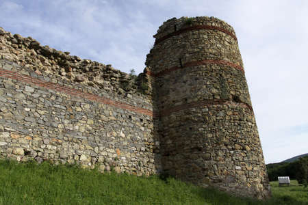 impregnable:  Invulnerable walls and advantageous location made fortress impregnable, location in village Mezek, Bulgaria