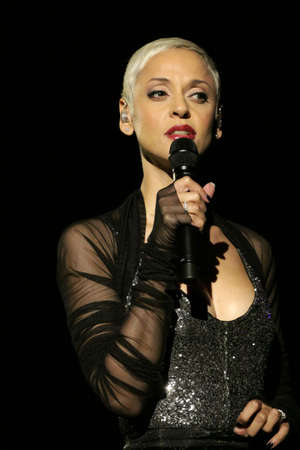 SOFIA, BULGARIA - DECEMBER 12: Singer Mariza on stage at National Palace of Culture in Sofia - Bulgaria December 12, 2012 in Sofia, Bulgaria