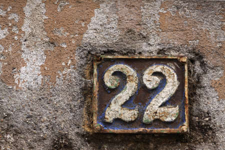 addresses: House numbers in different styles and colors (concept for real estate)