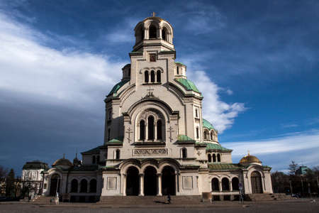 aleksander: Church Aleksander Nevski, Sofia Bulgaria, Bulgarian Church Stock Photo