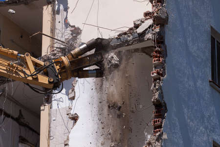 deconstruct: Buildings with heavy industrial machine