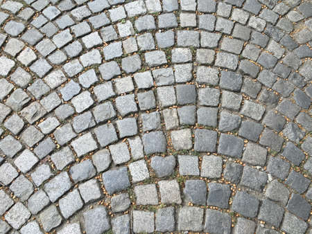 stone road: Texture of paved street, background stone road Stock Photo