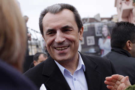 SOFIA, BULGARIA - NOVEMBER 16, 2013: Plamen Oresharski Prime minister of republic of Bulgaria - From May 29, 2013 to August 6, 2014 Sajtókép
