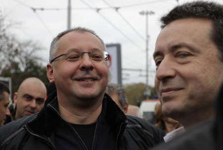 SOFIA, BULGARIA - NOVEMBER 16, 2013: Sergei Stanishev Leader of the Party of European Socialists