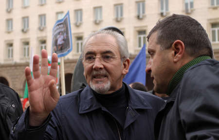 SOFIA, BULGARIA - NOVEMBER 16, 2013: Lutvi Ahmed Mestan is a Bulgarian politician, Chairman of the Parliamentary Group of the Movement for Rights and Freedoms (MRF)