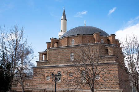 Sofia, Bulgaria - March 02, 2019: Background of the Central Sofia Mosque - Banya Bashi Mosque. Bulgaria, Sofia 報道画像