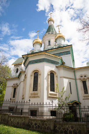 The Russian Church, known as the Church of St Nicholas the Miracle-Maker is a Russian Orthodox church in central Sofia, Bulgaria .The five domes are coated with gold
