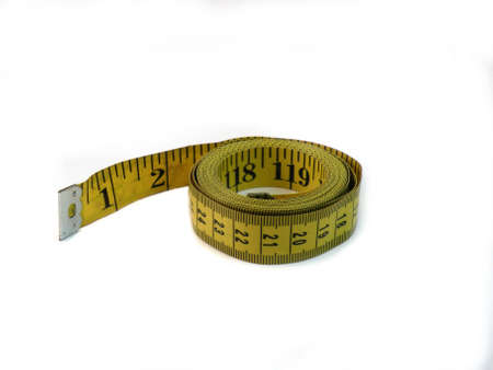 Measuring Tape Isolated On White 版權商用圖片