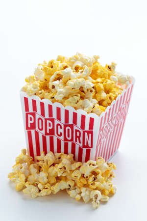 buttered: A box of buttered popcorn