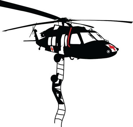 reddingshelikopter Stock Illustratie